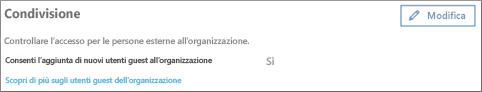 Consentire l'aggiunta di utenti guest all'organizzazione