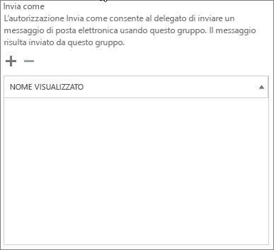 Screenshot: Scegliere il segno più per aggiungere gli utenti a cui inviare il messaggio come gruppo di Office 365