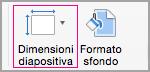 Fare clic su Dimensioni diapositiva