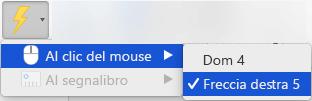 Attivare un'animazione da riprodurre quando si fa clic su un oggetto
