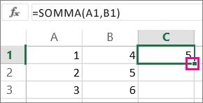 selezione del grafico sulla barra multifunzione