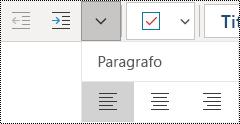 Allineare i paragrafi a sinistra nell'app OneNote per Windows 10