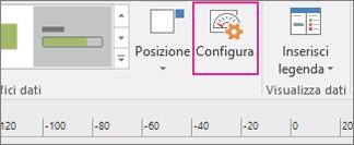 Scheda Dati, pulsante Configura