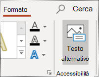 Pulsante AltText per una forma in PowerPoint per Windows