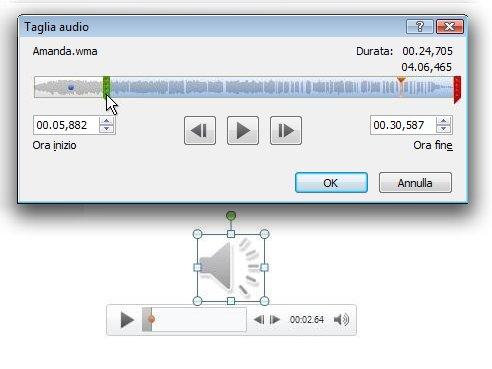 Taglia audio