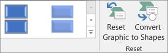 Nella scheda Progettazione fare clic su Reimposta elemento grafico