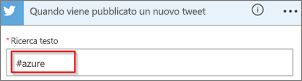 Screenshot: Digitare la parola chiave che si vuole