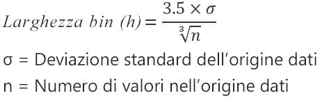 Formula per l'opzione Automatico