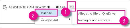 Pulsante Altre opzioni in Outlook Web App