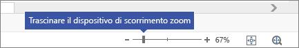 Uso del dispositivo di scorrimento zoom