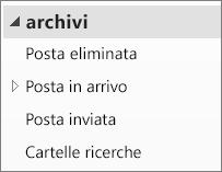 Espandere il file di archivio nel riquadro di spostamento per visualizzare le sottocartelle.