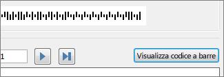 Pulsante Visualizza codice a barre
