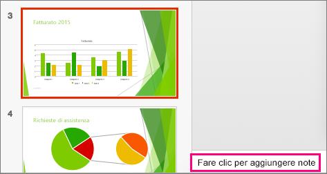 Riquadro delle note in PowerPoint 2016 per Mac