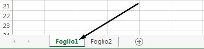 Le schede del foglio di lavoro di Excel sono nella parte inferiore della finestra di Excel.