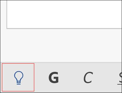 Fare clic sull'icona della lampadina per attivare la caratteristica Aiutami