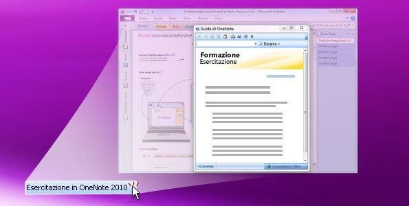 Esercitazione in OneNote 2010