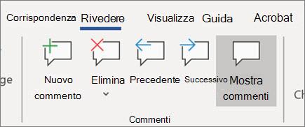 Visualizzare i commenti in Word