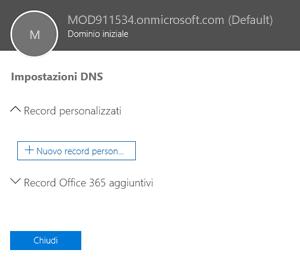 Selezionare le impostazioni DNS