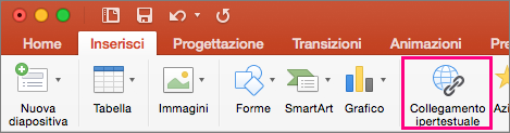 Scheda Inserisci in PowerPoint 2016 per Mac