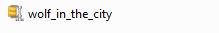 Il file zip per il tipo di carattere Wolf in the City.