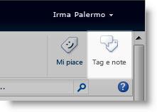 pulsante per l'aggiunta di tag di social networking in una pagina