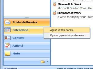 Fare clic con il pulsante destro del mouse sulla cartella che si desidera aprire e scegliere Apri in un'altra finestra.