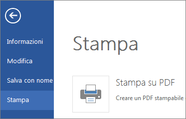 comando stampa in word online