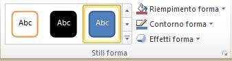 Gruppo Stili forma nella scheda Formato.