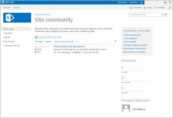 modello sito community