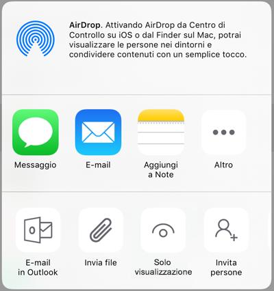 Condivisione in OneDrive