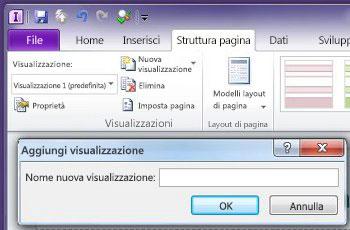 aggiungere, eliminare e cambiare visualizzazioni in un modulo