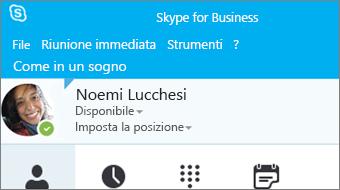 Guida introduttiva a Skype for Business 2016