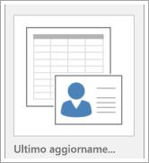 Icona per le opzioni dei modelli di database