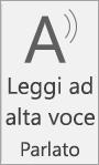 Icona Leggi ad alta voce