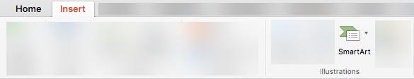 Inserire SmartArt dalla barra multifunzione