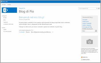 Modello Sito Web blog