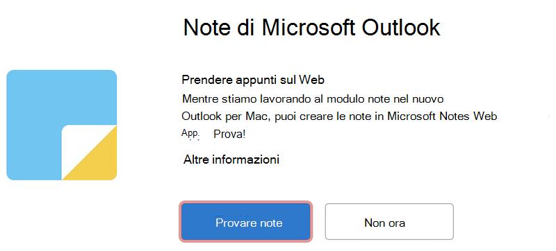 Prova Microsoft Notes sul web