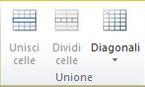 Gruppo unione tabella in Publisher 2010