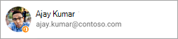 Screenshot che mostra l'icona di Office in avatar