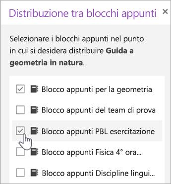 Finestra per la selezione della distribuzione tramite blocco appunti