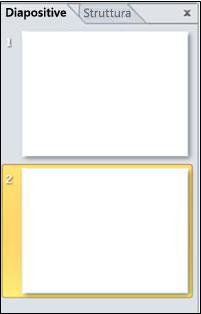 riquadro che include le schede diapositive e struttura