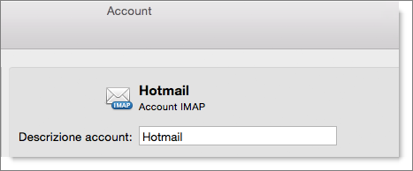A description and type of an Outlook account are shown.