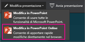 Modifica in PowerPoint Online