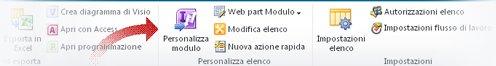 Personalizzazione dei moduli mediante InfoPath