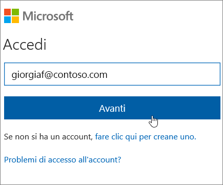 Accesso a SharePoint Online