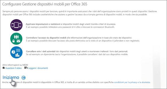 Configurare Gestione dispositivi mobili per Office 365