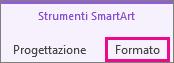 Scheda Formato in Strumenti SmartArt