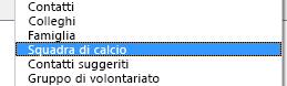 La nuova rubrica viene visualizzata nell'elenco a discesa Rubrica della finestra di dialogo Rubrica.