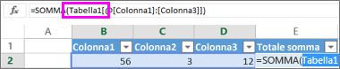 Nomi di tabella nelle formule