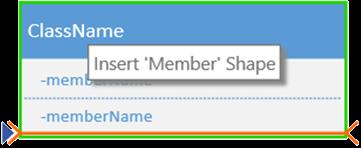 Aggiungere un nuovo membro facendo clic con il pulsante destro del mouse su un membro esistente e scegliendo l'opzione per l'inserimento di un membro.